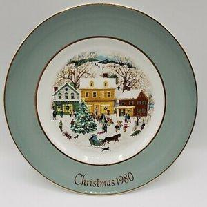 Vintage Avon Christmas Plate 80 Country Christmas